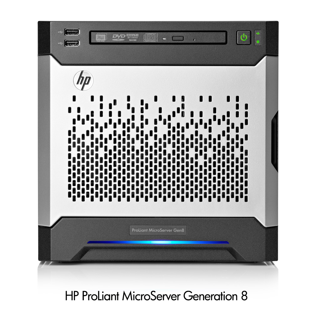 Сервер HP ProLiant MicroServer Gen8 - вид спереди