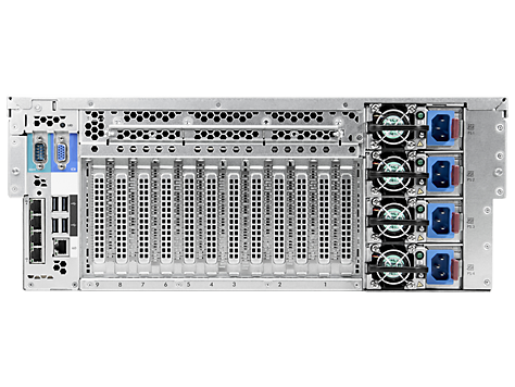 Сервер HP ProLiant DL580 Gen8 - корпус Rackmount 4U, вид сзади