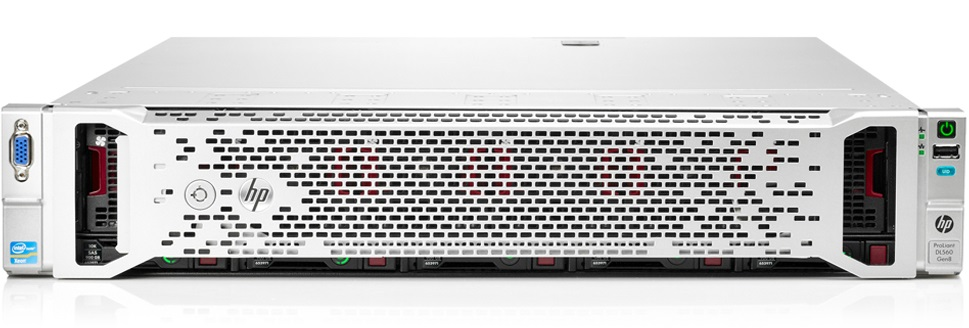 Сервер HP ProLiant DL560 Gen8 - корпус Rackmount 2U, вид спереди