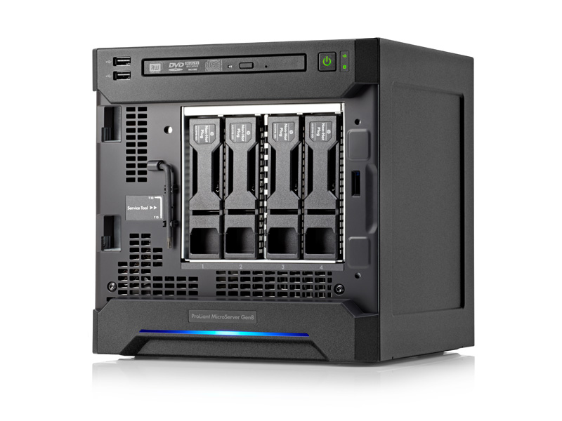 Сервер HP ProLiant MicroServer Gen8 - 4 отсека LFF 3.5