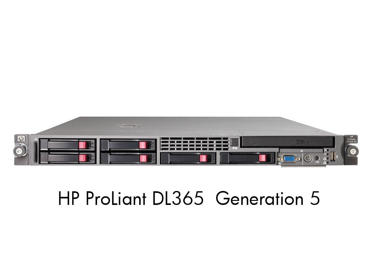 Сервер HP ProLiant DL365 G5 - корпус Rackmount 1U, 6 отсеков SFF 2.5