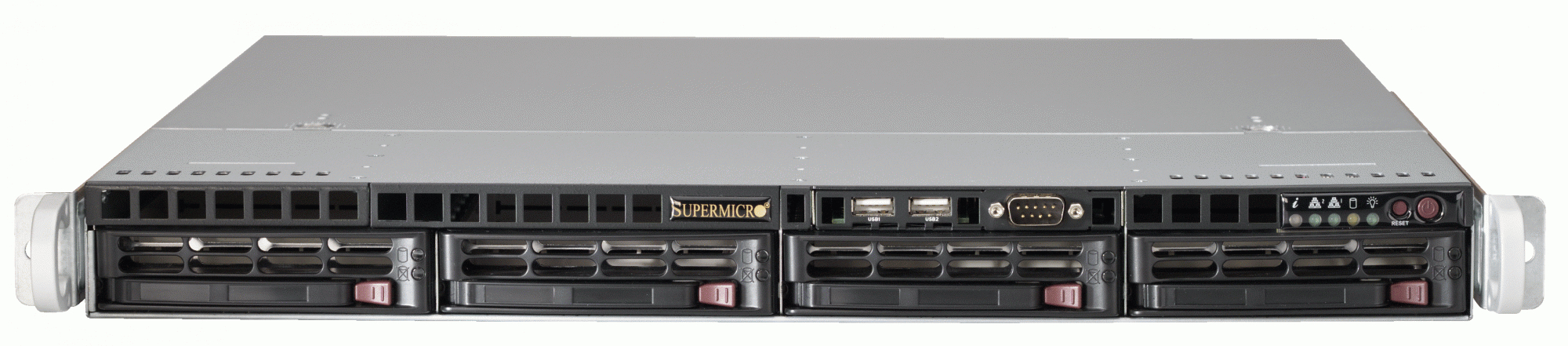 Серверная платформа Supermicro A+ Server 1012G-MTF (AS-1012G-MTF) - корпус Rackmount 1U, 4 отсека LFF 3.5