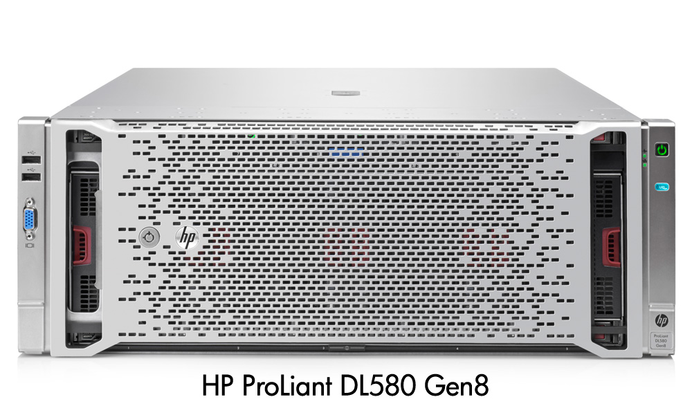 Сервер HP ProLiant DL580 Gen8 - корпус Rackmount 4U, вид спереди