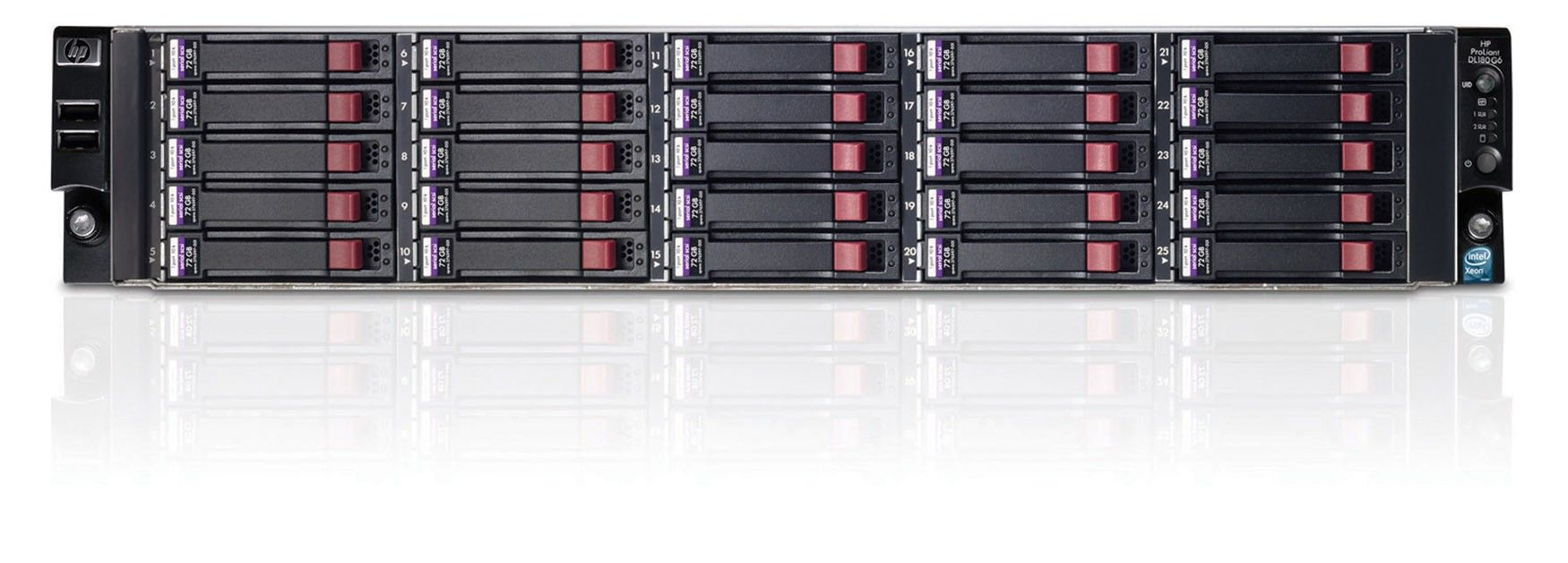 Сервер HP ProLiant DL180 G6 - корпус Rackmount 2U, 25 отсеков SFF 2.5