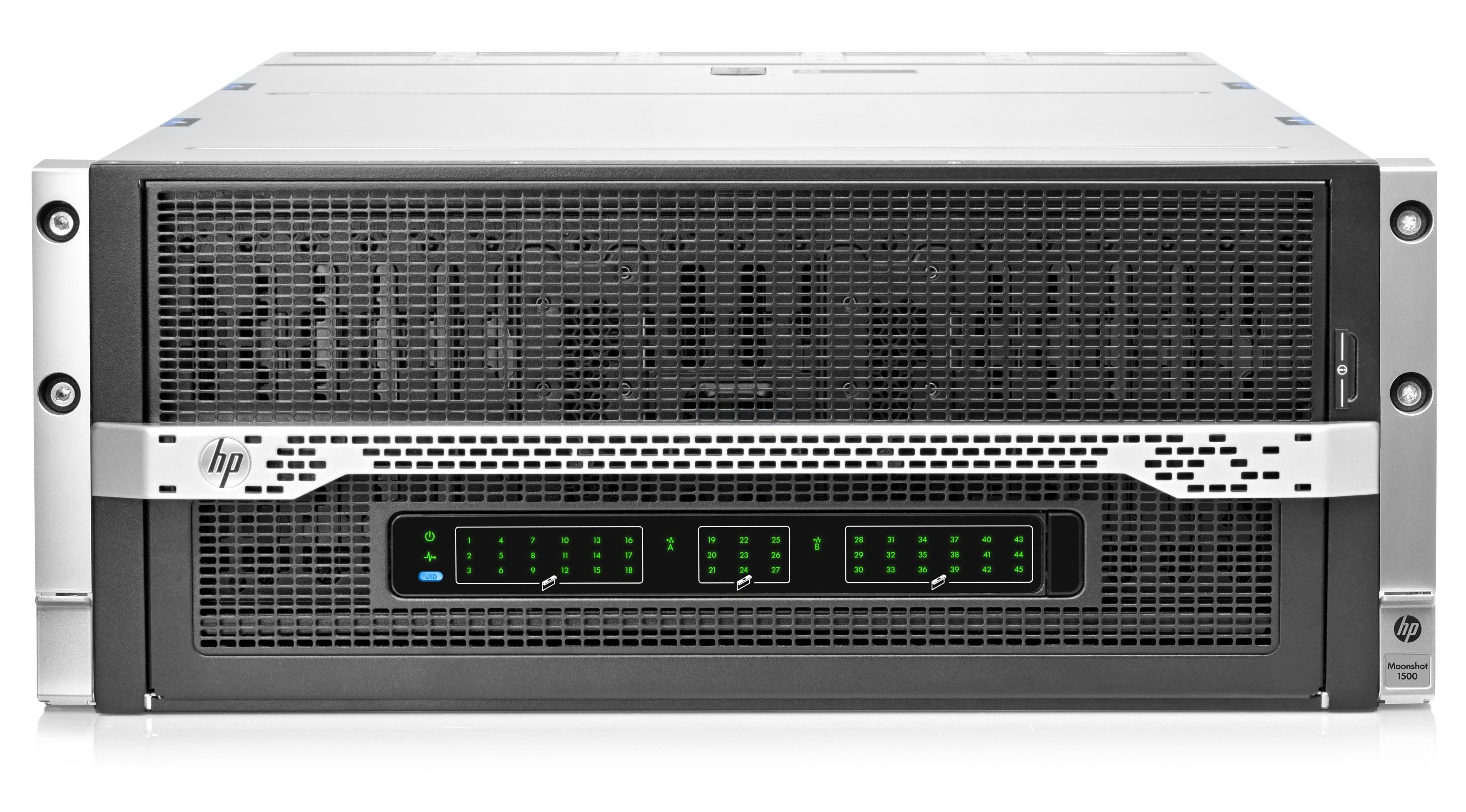 HP Moonshot 1500 System - корпус Rackmount, вид спереди